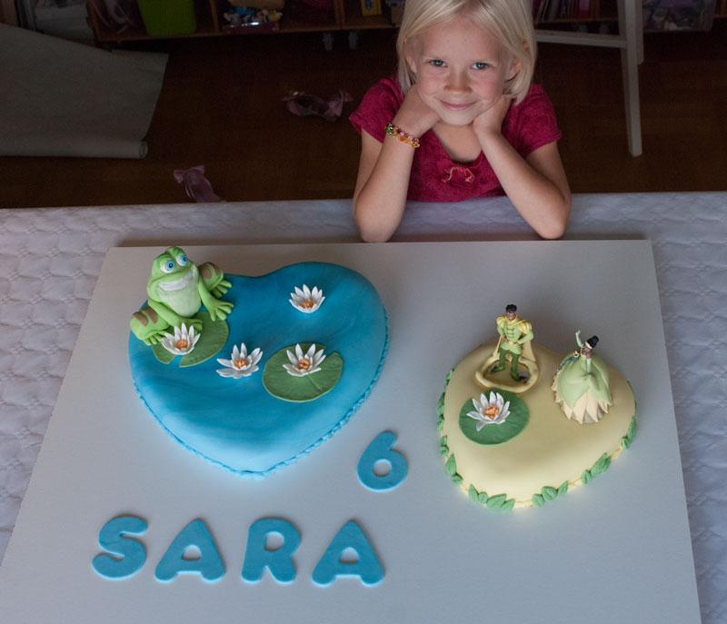 Prinsessen og frøen kager