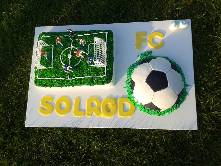 fodboldkage på græsplæne